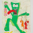 Camilo Restrepo. <em>Guamby</em>, 2021. Water-soluble wax pastel, ink, tape and saliva on paper 11 3/4 x 8 1/4 inches (29.8 x 21 cm) thumbnail