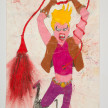Camilo Restrepo. <em>Xiomara</em>, 2021. Water-soluble wax pastel, ink, tape and saliva on paper 11 3/4 x 8 1/4 inches (29.8 x 21 cm) thumbnail