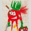 Camilo Restrepo. <em>Tomate</em>, 2021. Water-soluble wax pastel, ink, tape and saliva on paper 11 3/4 x 8 1/4 inches (29.8 x 21 cm) thumbnail