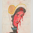 Camilo Restrepo. <em>Ramiro</em>, 2021. Water-soluble wax pastel, ink, tape and saliva on paper 11 3/4 x 8 1/4 inches (29.8 x 21 cm) thumbnail