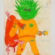 Camilo Restrepo. <em>Cabuyo</em>, 2021. Water-soluble wax pastel, ink, tape and saliva on paper 11 3/4 x 8 1/4 inches (29.8 x 21 cm) thumbnail