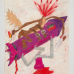Camilo Restrepo. <em>Ingeniero</em>, 2021. Water-soluble wax pastel, ink, tape and saliva on paper 11 3/4 x 8 1/4 inches (29.8 x 21 cm) thumbnail