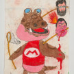 Camilo Restrepo. <em>Alfonso Cano</em>, 2021. Water-soluble wax pastel, ink, tape and saliva on paper 11 3/4 x 8 1/4 inches (29.8 x 21 cm) thumbnail