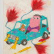 Camilo Restrepo. <em>Suzuki</em>, 2021. Water-soluble wax pastel, ink, tape and saliva on paper 11 3/4 x 8 1/4 inches (29.8 x 21 cm) thumbnail