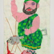 Camilo Restrepo. <em>Romaña</em>, 2021. Water-soluble wax pastel, ink, tape and saliva on paper 11 3/4 x 8 1/4 inches (29.8 x 21 cm) thumbnail