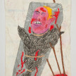 Camilo Restrepo. <em>Mono Jojoy</em>, 2021. Water-soluble wax pastel, ink, tape and saliva on paper 11 3/4 x 8 1/4 inches (29.8 x 21 cm) thumbnail