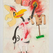 Camilo Restrepo. <em>Manuel Marulanda</em>, 2021. Water-soluble wax pastel, ink, tape and saliva on paper 11 3/4 x 8 1/4 inches (29.8 x 21 cm) thumbnail