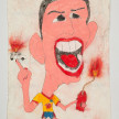 Camilo Restrepo. <em>James</em>, 2021. Water-soluble wax pastel, ink, tape and saliva on paper 11 3/4 x 8 1/4 inches (29.8 x 21 cm) thumbnail