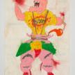 Camilo Restrepo. <em>Mancancàn</em>, 2021. Water-soluble wax pastel, ink, tape and saliva on paper 11 3/4 x 8 1/4 inches (29.8 x 21 cm) thumbnail