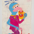 Camilo Restrepo. <em>Gonzo</em>, 2021. Water-soluble wax pastel, ink, tape and saliva on paper 11 3/4 x 8 1/4 inches (29.8 x 21 cm) thumbnail