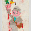 Camilo Restrepo. <em>Jaime</em>, 2021. Water-soluble wax pastel, ink, tape and saliva on paper 11 3/4 x 8 1/4 inches (29.8 x 21 cm) thumbnail