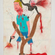 Camilo Restrepo. <em>Don Y</em>, 2021. Water-soluble wax pastel, ink, tape and saliva on paper 11 3/4 x 8 1/4 inches (29.8 x 21 cm) thumbnail