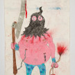 Camilo Restrepo. <em>Carcelero de las Farc</em>, 2021. Water-soluble wax pastel, ink, tape and saliva on paper 11 3/4 x 8 1/4 inches (29.8 x 21 cm) thumbnail