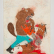 Camilo Restrepo. <em>Castor</em>, 2021. Water-soluble wax pastel, ink, tape and saliva on paper 11 3/4 x 8 1/4 inches (29.8 x 21 cm) thumbnail