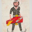 Camilo Restrepo. <em>Señor de los Cielos</em>, 2021. Water-soluble wax pastel, ink, tape and saliva on paper 11 3/4 x 8 1/4 inches (29.8 x 21 cm) thumbnail