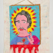 Camilo Restrepo. <em>Patròn</em>, 2021. Water-soluble wax pastel, ink, tape and saliva on paper 11 3/4 x 8 1/4 inches (29.8 x 21 cm) thumbnail
