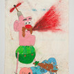 Camilo Restrepo. <em>Tito</em>, 2021. Water-soluble wax pastel, ink, tape and saliva on paper 11 3/4 x 8 1/4 inches (29.8 x 21 cm) thumbnail