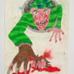 Camilo Restrepo. <em>Yeison</em>, 2021. Water-soluble wax pastel, ink, tape and saliva on paper 11 3/4 x 8 1/4 inches (29.8 x 21 cm) thumbnail