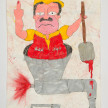 Camilo Restrepo. <em>Chapo</em>, 2021. Water-soluble wax pastel, ink, tape and saliva on paper 11 3/4 x 8 1/4 inches (29.8 x 21 cm) thumbnail