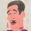 Camilo Restrepo. <em>Mueco</em>, 2021. Water-soluble wax pastel, ink, tape and saliva on paper 11 3/4 x 8 1/4 inches (29.8 x 21 cm) thumbnail
