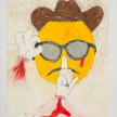 Camilo Restrepo. <em>Gafas</em>, 2021. Water-soluble wax pastel, ink, tape and saliva on paper 11 3/4 x 8 1/4 inches (29.8 x 21 cm) thumbnail