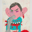 Camilo Restrepo. <em>Amaury</em>, 2021. Water-soluble wax pastel, ink, tape and saliva on paper 11 3/4 x 8 1/4 inches (29.8 x 21 cm) thumbnail
