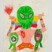 Camilo Restrepo. <em>Dumar</em>, 2021. Water-soluble wax pastel, ink, tape and saliva on paper 11 3/4 x 8 1/4 inches (29.8 x 21 cm) thumbnail