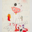 Camilo Restrepo. <em>Bryan</em>, 2021. Water-soluble wax pastel, ink, tape and saliva on paper 11 3/4 x 8 1/4 inches (29.8 x 21 cm) thumbnail