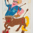Camilo Restrepo. <em>Llanero</em>, 2021. Water-soluble wax pastel, ink, tape and saliva on paper 11 3/4 x 8 1/4 inches (29.8 x 21 cm) thumbnail