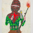 Camilo Restrepo. <em>Caraballo</em>, 2021. Water-soluble wax pastel, ink, tape and saliva on paper 11 3/4 x 8 1/4 inches (29.8 x 21 cm) thumbnail