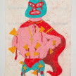 Camilo Restrepo. <em>Nacho</em>, 2021. Water-soluble wax pastel, ink, tape and saliva on paper 11 3/4 x 8 1/4 inches (29.8 x 21 cm) thumbnail