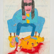 Camilo Restrepo. <em>Francisco Galàn</em>, 2021. Water-soluble wax pastel, ink, tape and saliva on paper 11 3/4 x 8 1/4 inches (29.8 x 21 cm) thumbnail