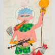 Camilo Restrepo. <em>Rodrigo Cadete</em>, 2021. Water-soluble wax pastel, ink, tape and saliva on paper 11 3/4 x 8 1/4 inches (29.8 x 21 cm) thumbnail