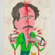 Camilo Restrepo. <em>Quirico</em>, 2021. Water-soluble wax pastel, ink, tape and saliva on paper 11 3/4 x 8 1/4 inches (29.8 x 21 cm) thumbnail