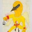 Camilo Restrepo. <em>Gonzalito</em>, 2021. Water-soluble wax pastel, ink, tape and saliva on paper 11 3/4 x 8 1/4 inches (29.8 x 21 cm) thumbnail
