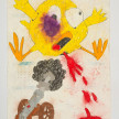 Camilo Restrepo. <em>Chiqui</em>, 2021. Water-soluble wax pastel, ink, tape and saliva on paper 11 3/4 x 8 1/4 inches (29.8 x 21 cm) thumbnail