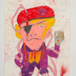 Camilo Restrepo. <em>Comandante Uno</em>, 2021. Water-soluble wax pastel, ink, tape and saliva on paper 11 3/4 x 8 1/4 inches (29.8 x 21 cm) thumbnail