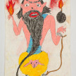 Camilo Restrepo. <em>Tupa</em>, 2021. Water-soluble wax pastel, ink, tape and saliva on paper 11 3/4 x 8 1/4 inches (29.8 x 21 cm) thumbnail