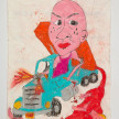Camilo Restrepo. <em>Toreto</em>, 2021. Water-soluble wax pastel, ink, tape and saliva on paper 11 3/4 x 8 1/4 inches (29.8 x 21 cm) thumbnail