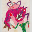 Camilo Restrepo. <em>Soldo</em>, 2021. Water-soluble wax pastel, ink, tape and saliva on paper 11 3/4 x 8 1/4 inches (29.8 x 21 cm) thumbnail