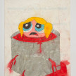 Camilo Restrepo. <em>Burbuja</em>, 2021. Water-soluble wax pastel, ink, tape and saliva on paper 11 3/4 x 8 1/4 inches (29.8 x 21 cm) thumbnail