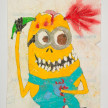 Camilo Restrepo. <em>Kevin</em>, 2021. Water-soluble wax pastel, ink, tape and saliva on paper 11 3/4 x 8 1/4 inches (29.8 x 21 cm) thumbnail