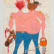 Camilo Restrepo. <em>Mellizo</em>, 2021. Water-soluble wax pastel, ink, tape and saliva on paper 11 3/4 x 8 1/4 inches (29.8 x 21 cm) thumbnail