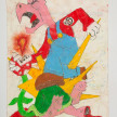 Camilo Restrepo. <em>Don Mario</em>, 2021. Water-soluble wax pastel, ink, tape and saliva on paper 11 3/4 x 8 1/4 inches (29.8 x 21 cm) thumbnail