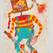 Camilo Restrepo. <em>Marquitos</em>, 2021. Water-soluble wax pastel, ink, tape and saliva on paper 11 3/4 x 8 1/4 inches (29.8 x 21 cm) thumbnail