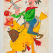 Camilo Restrepo. <em>Peco</em>, 2021. Water-soluble wax pastel, ink, tape and saliva on paper 11 3/4 x 8 1/4 inches (29.8 x 21 cm) thumbnail