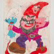 Camilo Restrepo. <em>Enano</em>, 2021. Water-soluble wax pastel, ink, tape and saliva on paper 11 3/4 x 8 1/4 inches (29.8 x 21 cm) thumbnail