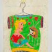 Camilo Restrepo. <em>Monita Retrechera</em>, 2021. Water-soluble wax pastel, ink, tape and saliva on paper 11 3/4 x 8 1/4 inches (29.8 x 21 cm) thumbnail