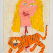 Camilo Restrepo. <em>Fabio</em>, 2021. Water-soluble wax pastel, ink, tape and saliva on paper 11 3/4 x 8 1/4 inches (29.8 x 21 cm) thumbnail