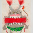 Camilo Restrepo. <em>Gàrgola</em>, 2021. Water-soluble wax pastel, ink, tape and saliva on paper 11 3/4 x 8 1/4 inches (29.8 x 21 cm) thumbnail